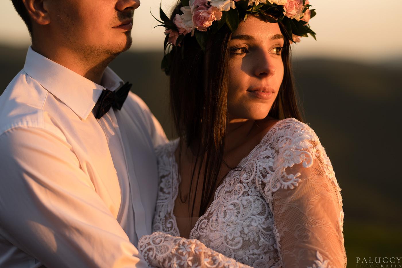 Pałuccy Fotografia, sesja poślubna, zachód słońca Połonina Wetlińska, Chatka Puchatka, fotografia ślubna Tarnów, Kraków, Rzeszów